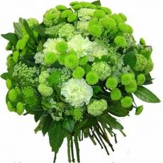 Букет зеленых цветов