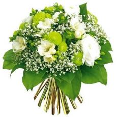 Букет цветов в зеленой гамме