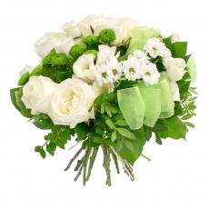 Бело-зеленый букет