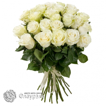 Monobuket iz 25 belih roz