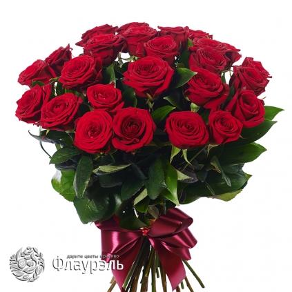Monobuket iz krasnih roz